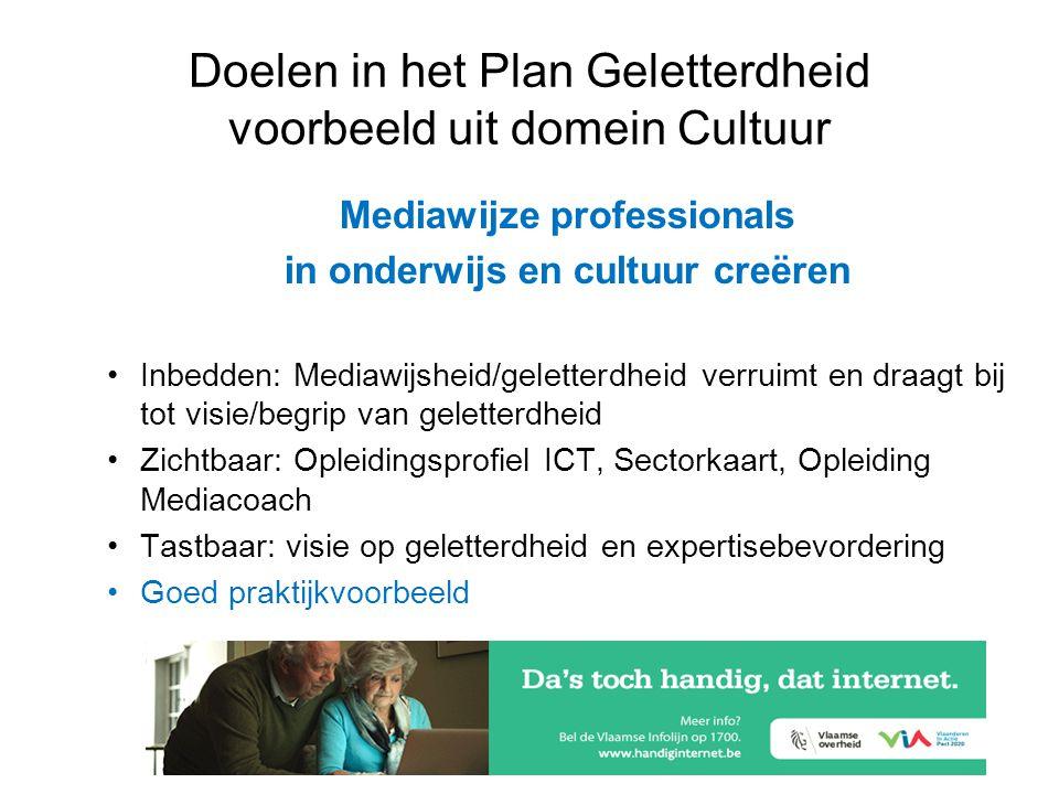 PIAAC daagt het Plan Geletterdheid uit! Mediawijze professionals in onderwijs en cultuur creëren •Inbedden: Mediawijsheid/geletterdheid verruimt en dr