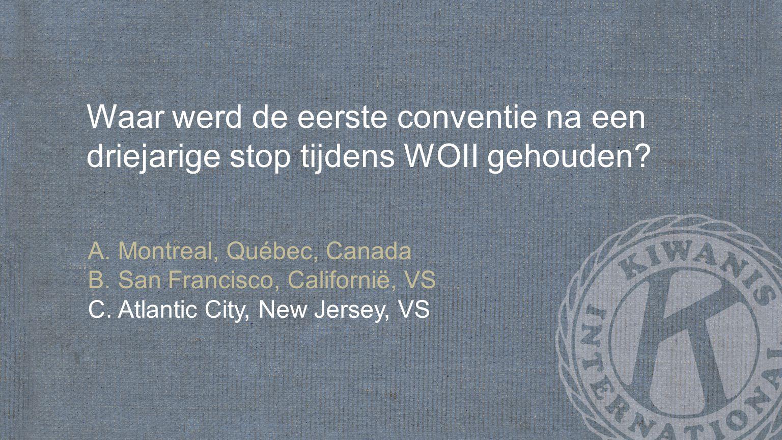 Waar werd de eerste conventie na een driejarige stop tijdens WOII gehouden.
