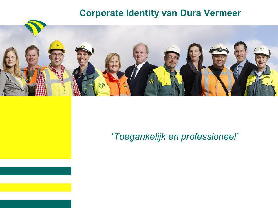 Corporate Identity van Dura Vermeer 'Toegankelijk en professioneel'
