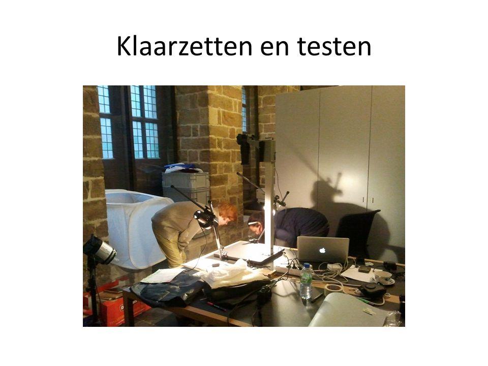 Klaarzetten en testen