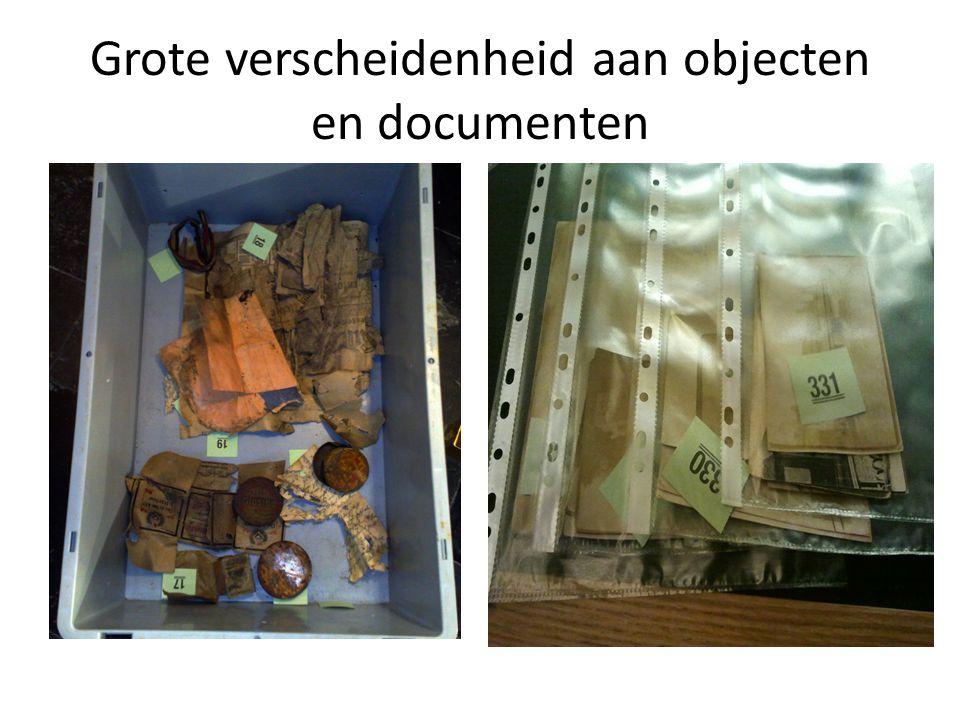 Grote verscheidenheid aan objecten en documenten