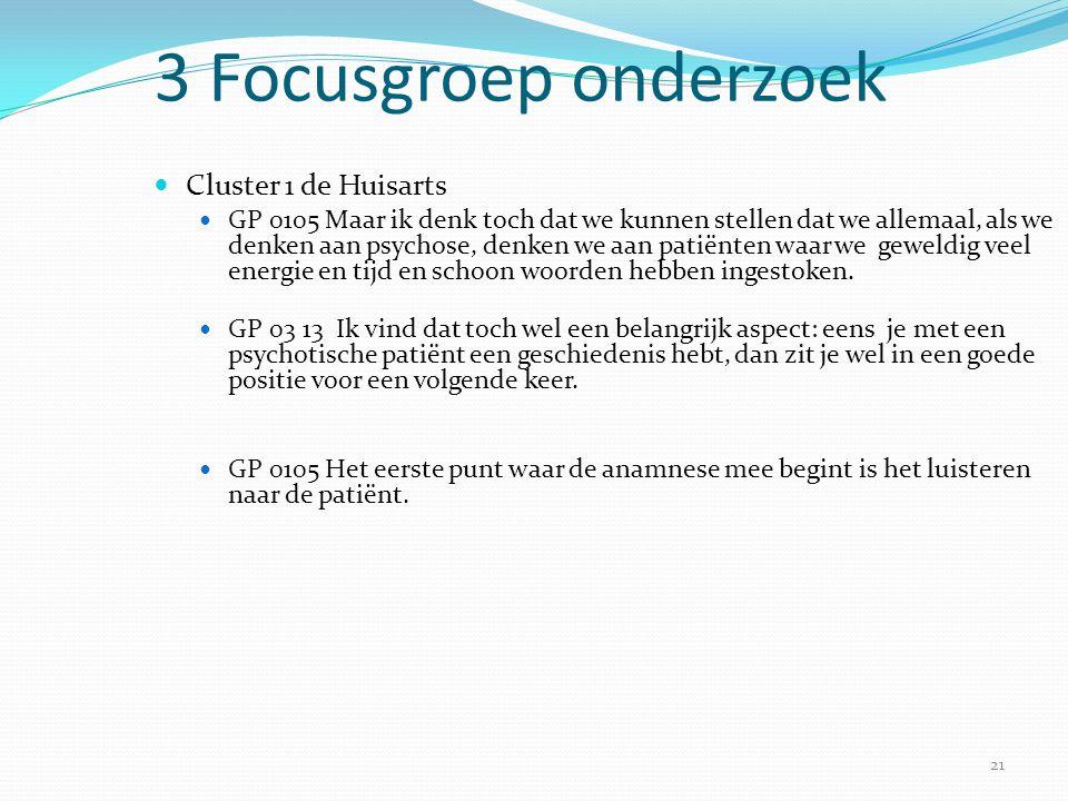 21 3 Focusgroep onderzoek  Cluster 1 de Huisarts  GP 0105 Maar ik denk toch dat we kunnen stellen dat we allemaal, als we denken aan psychose, denke