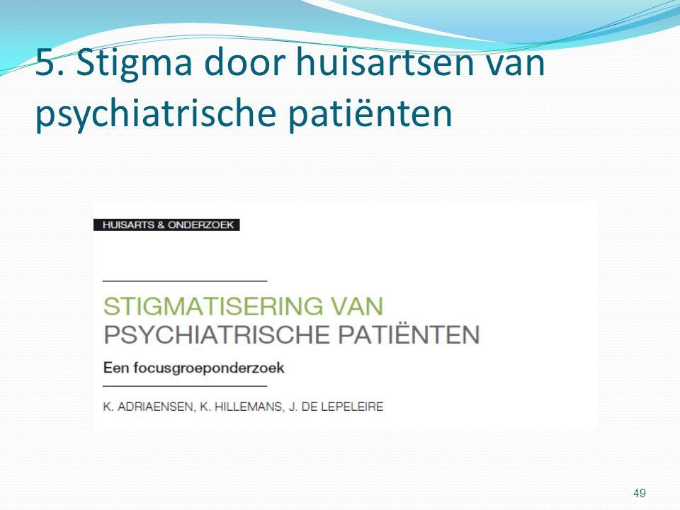 5. Stigma door huisartsen van psychiatrische patiënten 49