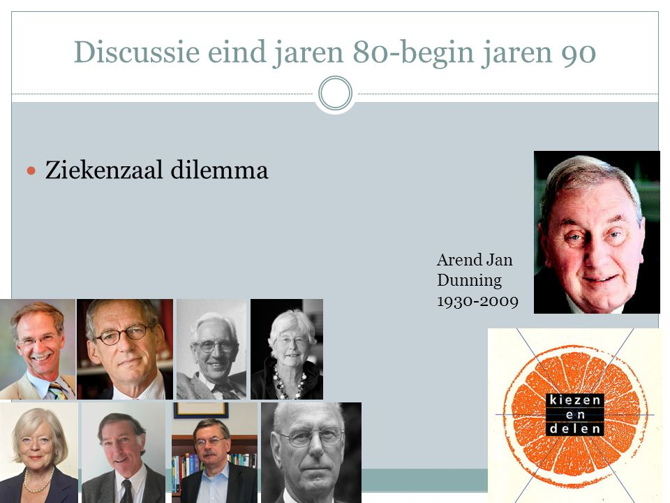 Discussie eind jaren 80-begin jaren 90  Ziekenzaal dilemma Arend Jan Dunning 1930-2009