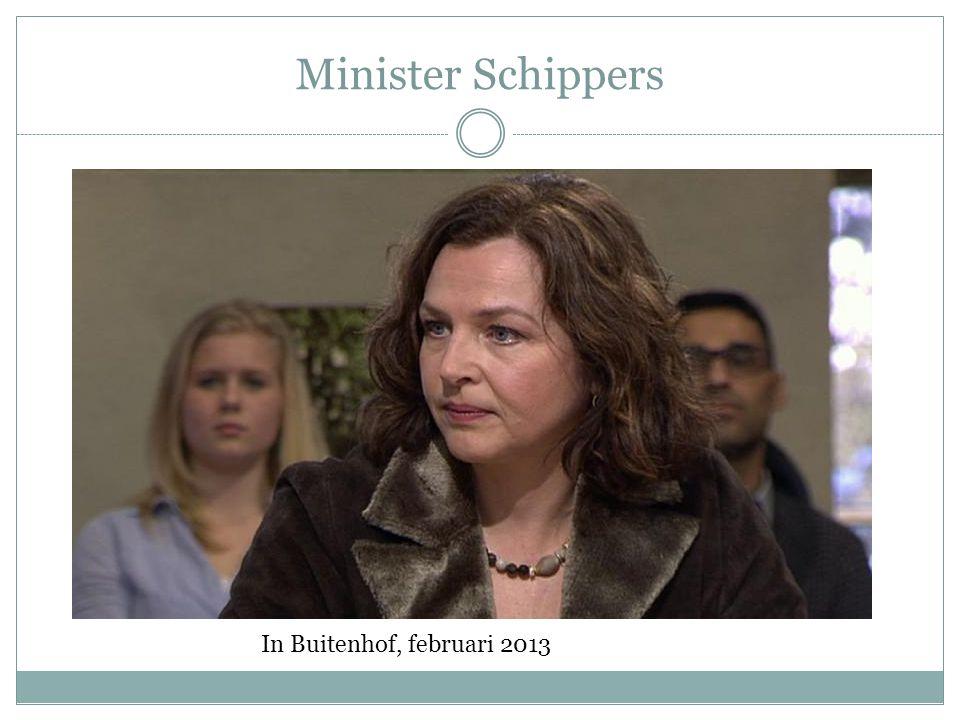 Minister Schippers In Buitenhof, februari 2013