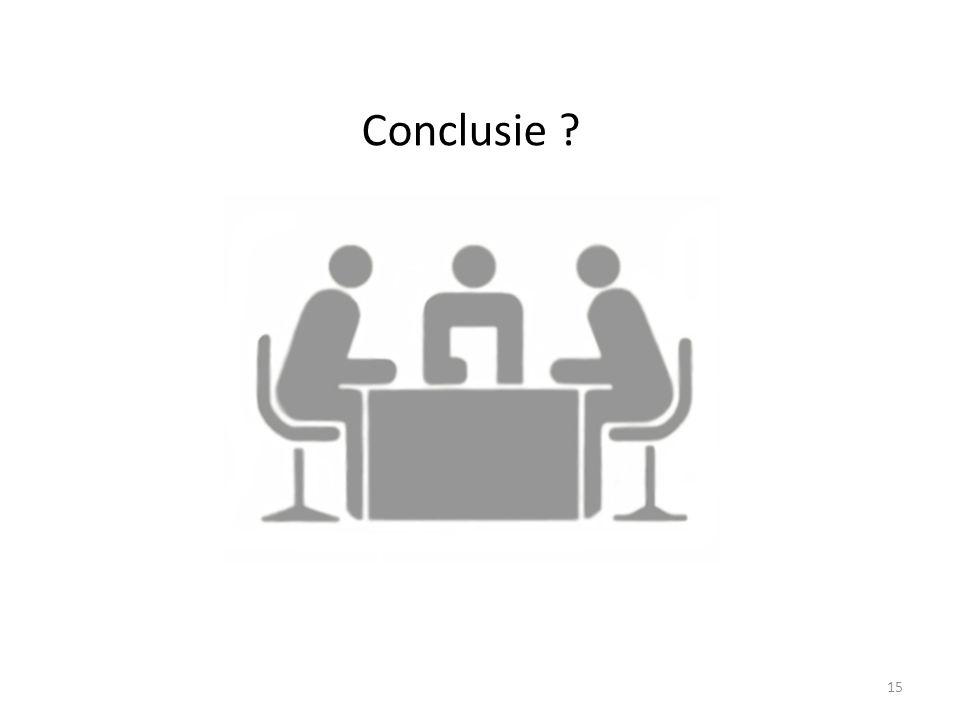 Conclusie ? 15