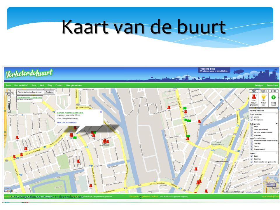 Kaart van de buurt Leids congresbureau KO/BV 12 december 201217