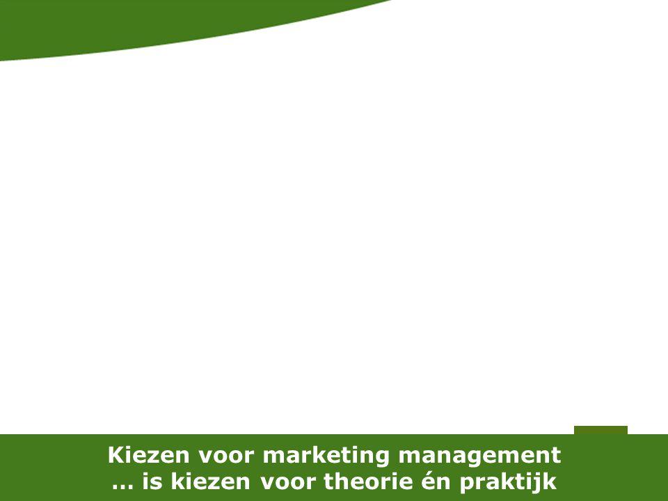 Kiezen voor marketing management … is kiezen voor theorie én praktijk