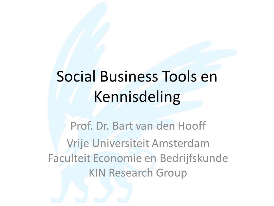 Social Business Tools en Kennisdeling Prof.Dr.