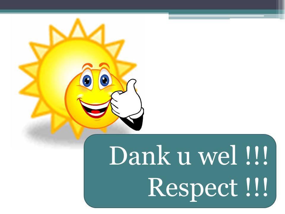 Dank u wel !!! Respect !!!