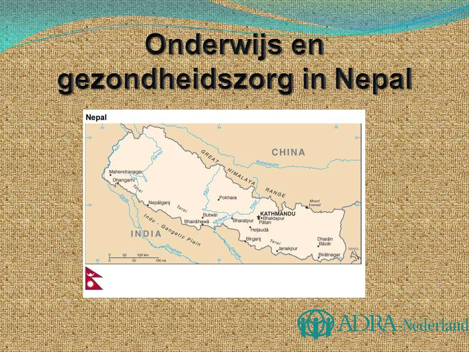  Zuidoost Azie  Nepalees is de officiële voertaal  81 % van de bevolking is Hindoe  Buurlanden: India en China  4 keer groter dan Nederland  29 miljoen inwoners