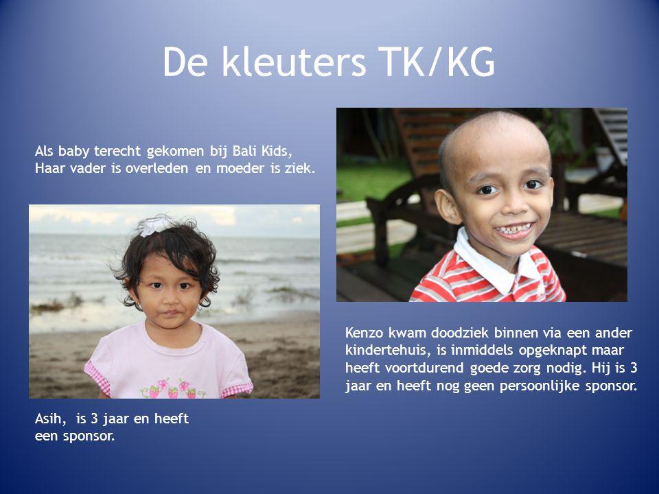 De kleuters TK/KG Als baby terecht gekomen bij Bali Kids, Haar vader is overleden en moeder is ziek.