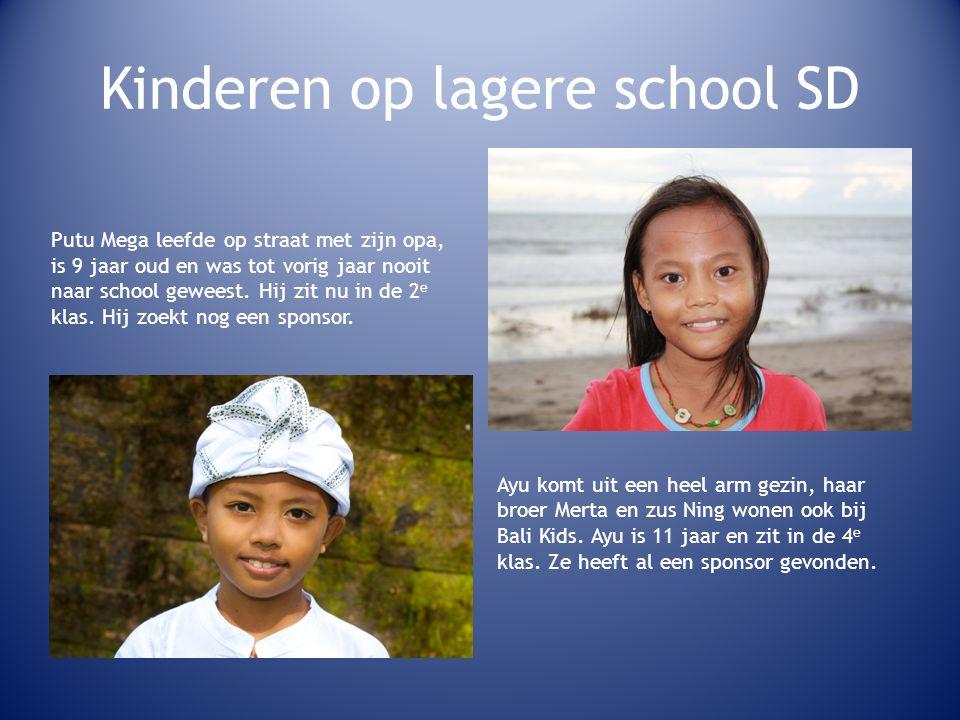 Kinderen op lagere school SD Putu Mega leefde op straat met zijn opa, is 9 jaar oud en was tot vorig jaar nooit naar school geweest.