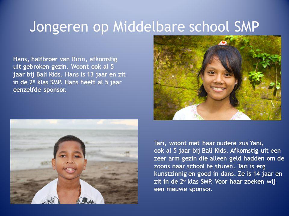 Jongeren op Middelbare school SMP Hans, halfbroer van Ririn, afkomstig uit gebroken gezin.