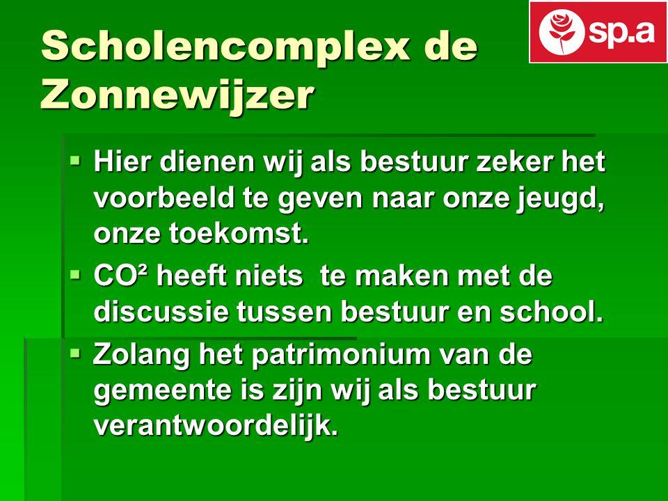 Scholencomplex de Zonnewijzer  Hier dienen wij als bestuur zeker het voorbeeld te geven naar onze jeugd, onze toekomst.