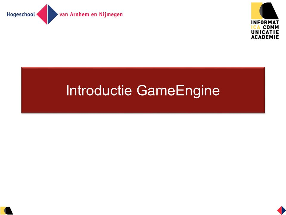 Game Objects (4) Bewegende objecten: hebben alles wat statische objecten ook hebben, plus:  snelheid  botsingen  wrijving