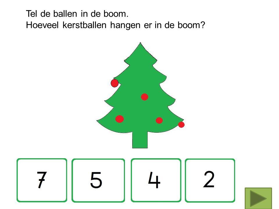 Tel de kerstballen in de boom Tellen 1 -10 jufanja.eu