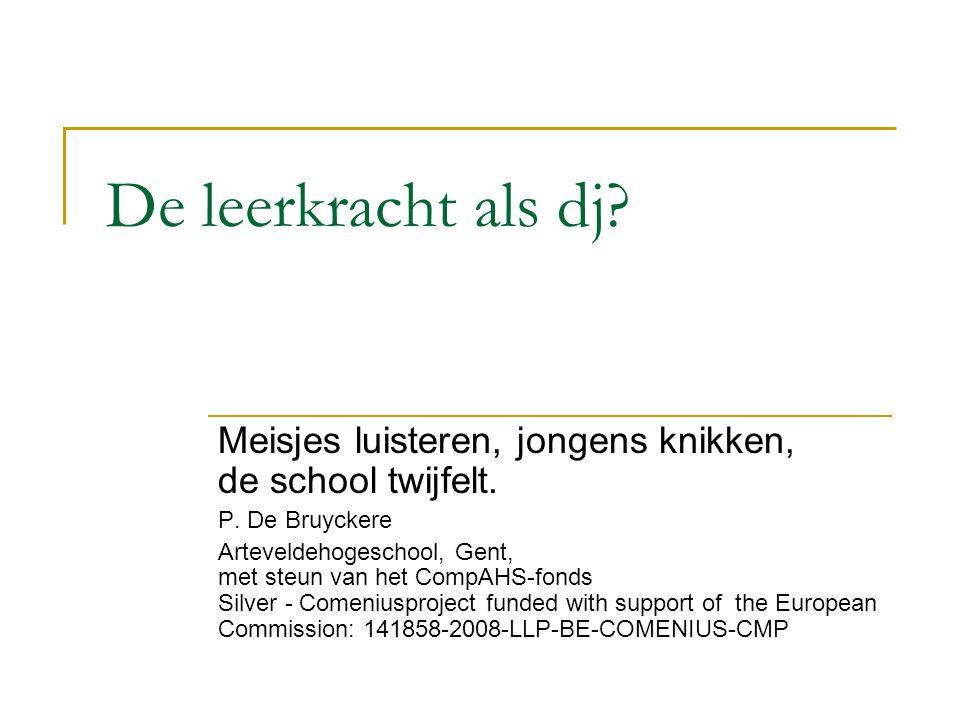 Onderzoek  Onderzoek in Vlaanderen bij 1783 leerlingen en 105 leerkrachten naar gebruik van muziek op school.