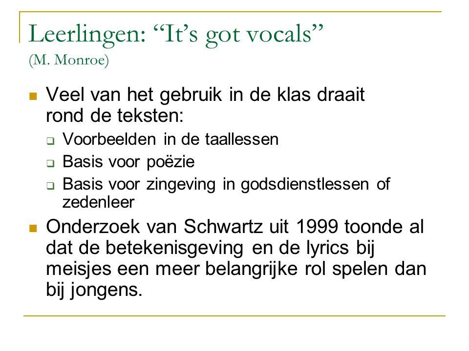 Leerlingen: It's got vocals (M.