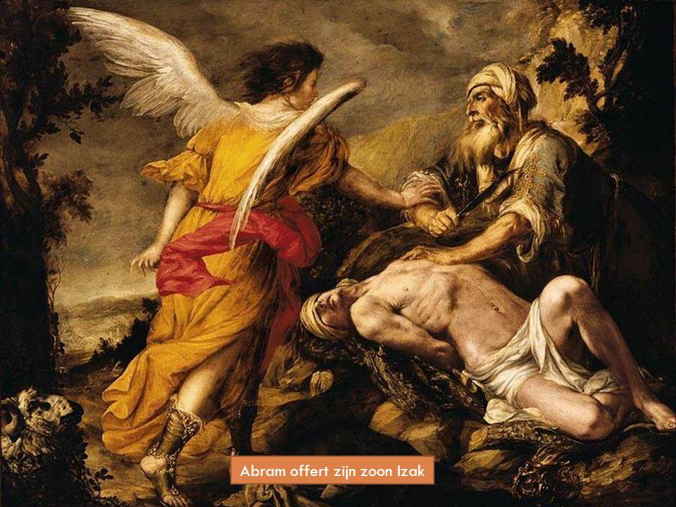 Abram offert zijn zoon Izak