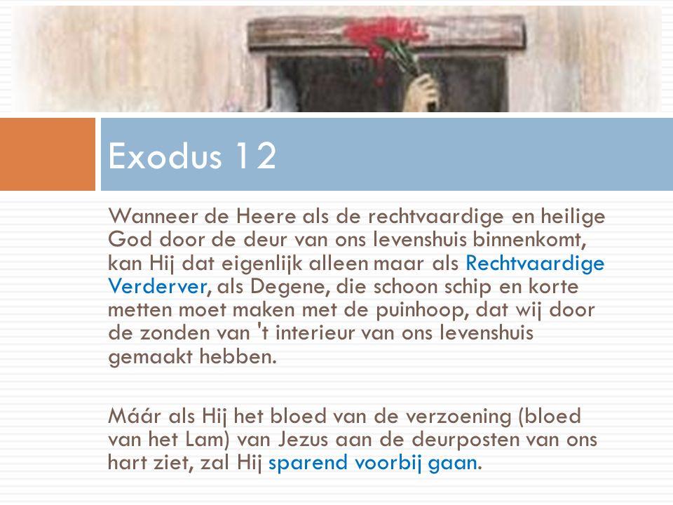 Wanneer de Heere als de rechtvaardige en heilige God door de deur van ons levenshuis binnenkomt, kan Hij dat eigenlijk alleen maar als Rechtvaardige V