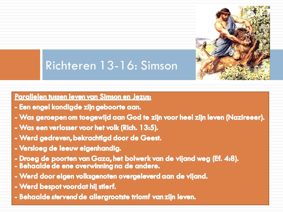 Richteren 13-16: Simson