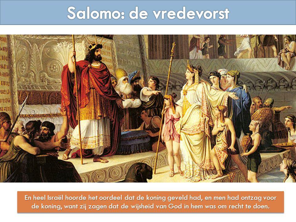 En heel Israël hoorde het oordeel dat de koning geveld had, en men had ontzag voor de koning, want zij zagen dat de wijsheid van God in hem was om rec