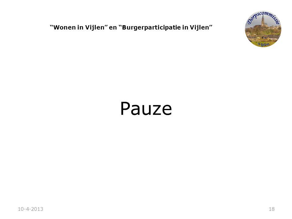 """Pauze """"Wonen in Vijlen"""" en """"Burgerparticipatie in Vijlen"""" 10-4-201318"""