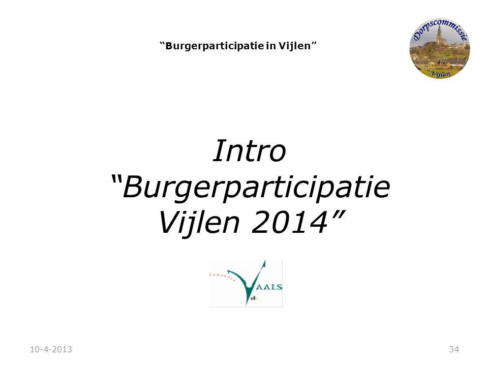 """Burgerparticipatie in Vijlen"" Intro ""Burgerparticipatie Vijlen 2014"" 10-4-201334"