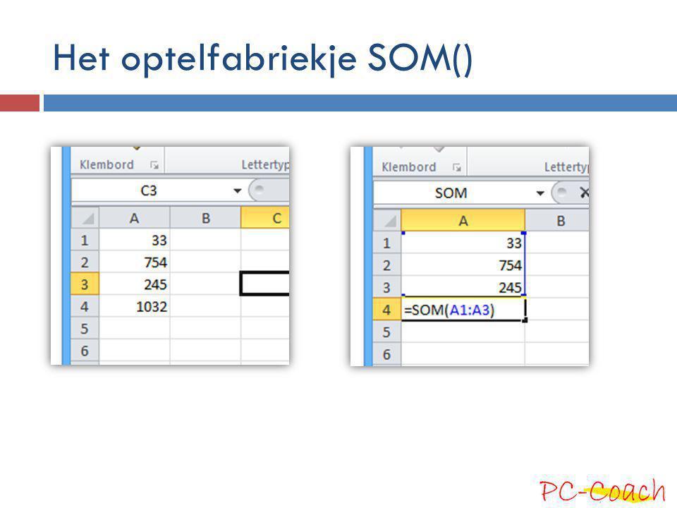 Hulp van Excel