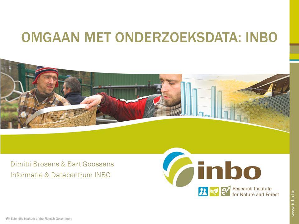 SD 5: Het INBO beheert gegevens en maakt ze toegankelijk.
