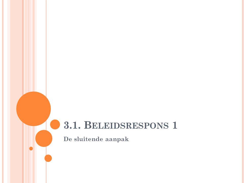 3.1. B ELEIDSRESPONS 1 De sluitende aanpak