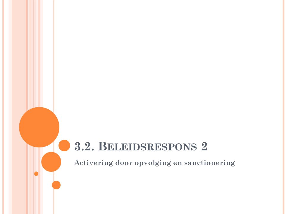3.2. B ELEIDSRESPONS 2 Activering door opvolging en sanctionering
