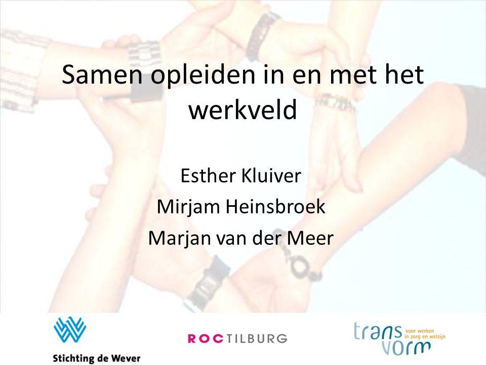 Samen opleiden in en met het werkveld Esther Kluiver Mirjam Heinsbroek Marjan van der Meer