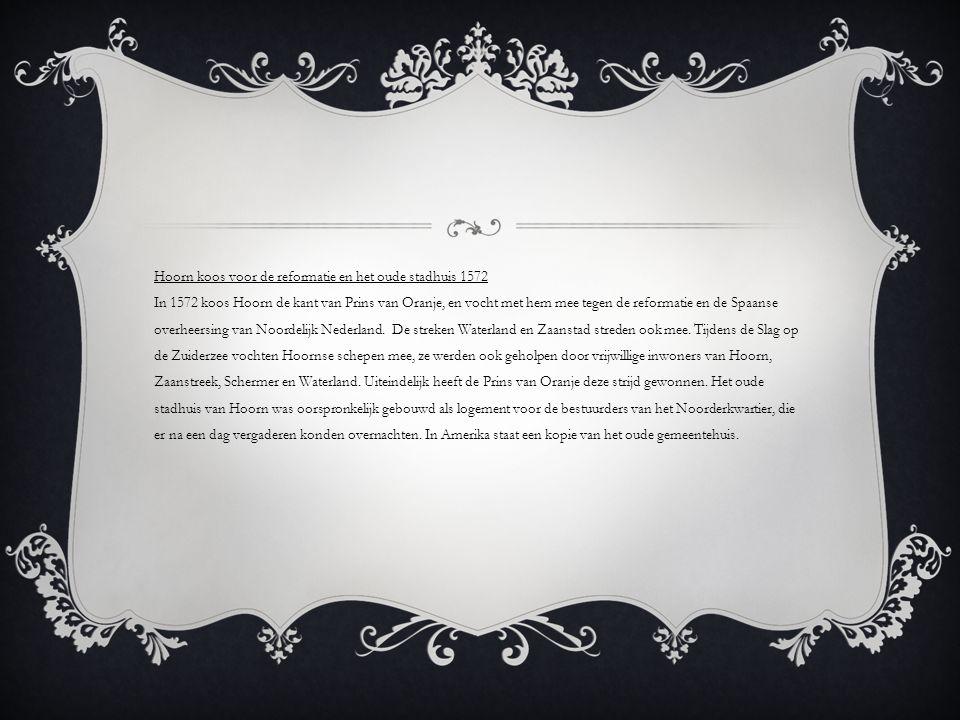 Oprichting VOC vesteging in Hoorn 1602 De verenigde oost Indische compagnie was een machtige handelsonderneming met jaren lang monopolie (door één partij wordt aangeboden) op de specerijenhandel uit Azië en Europa.