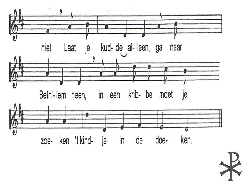 zingt met algemene stem voor het kind van Bethlehem.