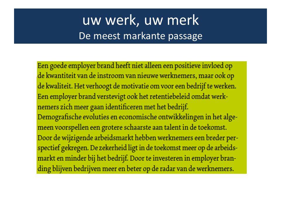 • Micro: Wat als werkgever het meest in het oog springt … • Macro: Wat het VBO, als sociale partner, het meest in het oog springt...
