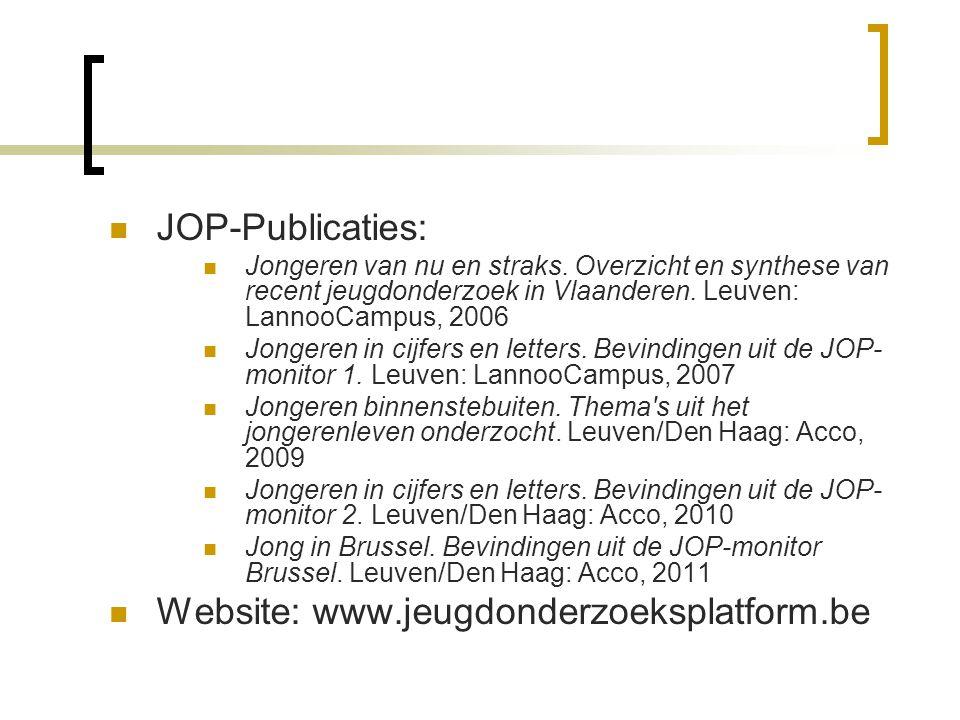  JOP-Publicaties:  Jongeren van nu en straks.