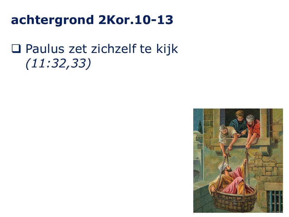 achtergrond 2Kor.10-13  Paulus zet zichzelf te kijk (11:32,33) 6
