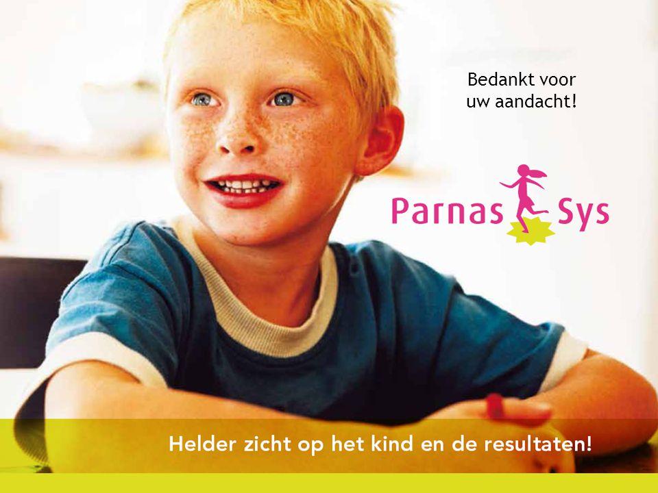 Haal meer uit de toetsen met ParnasSys Bedankt voor uw aandacht!
