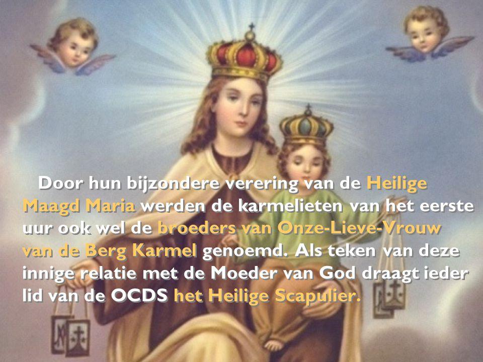 Door hun bijzondere verering van de Heilige Maagd Maria werden de karmelieten van het eerste uur ook wel de broeders van Onze-Lieve-Vrouw van de Berg