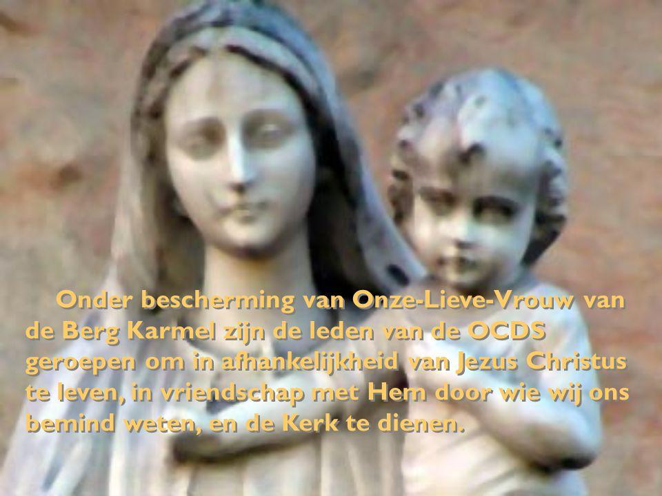 Onder bescherming van Onze-Lieve-Vrouw van de Berg Karmel zijn de leden van de OCDS geroepen om in afhankelijkheid van Jezus Christus te leven, in vri