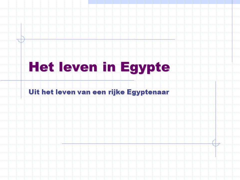 Het leven in Egypte Uit het leven van een rijke Egyptenaar