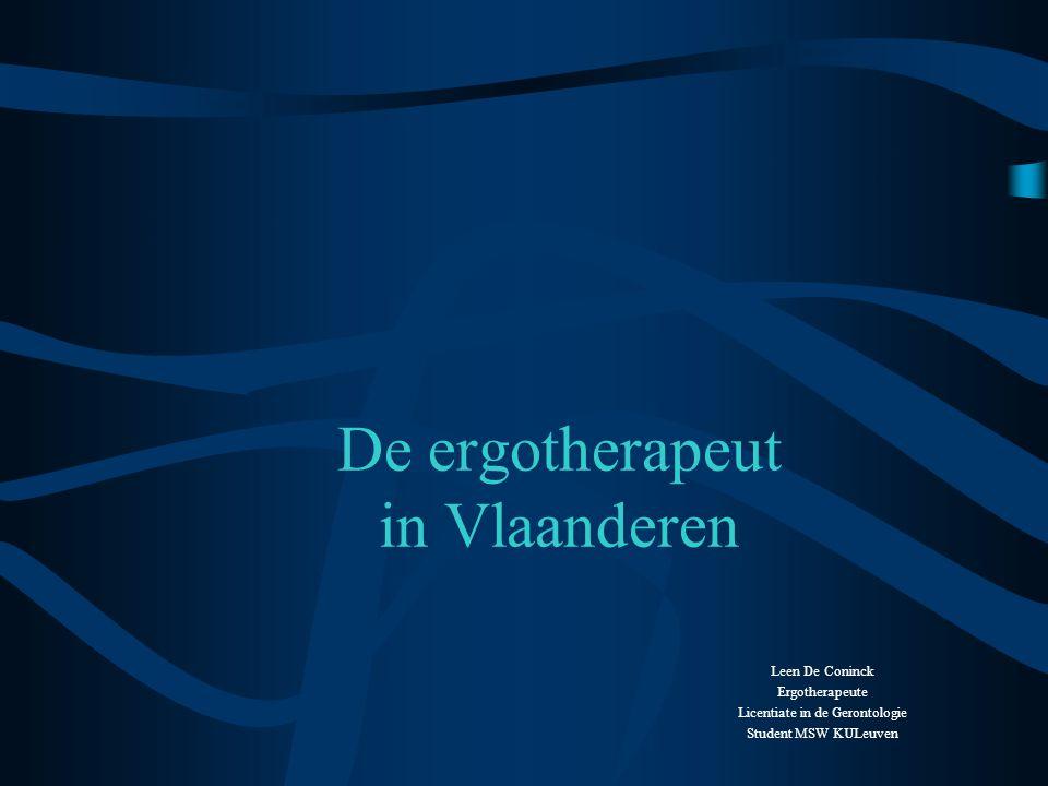 •Meetinstrumenten: –Assessment of Motor and Process Skills (AMPS) Methodiek