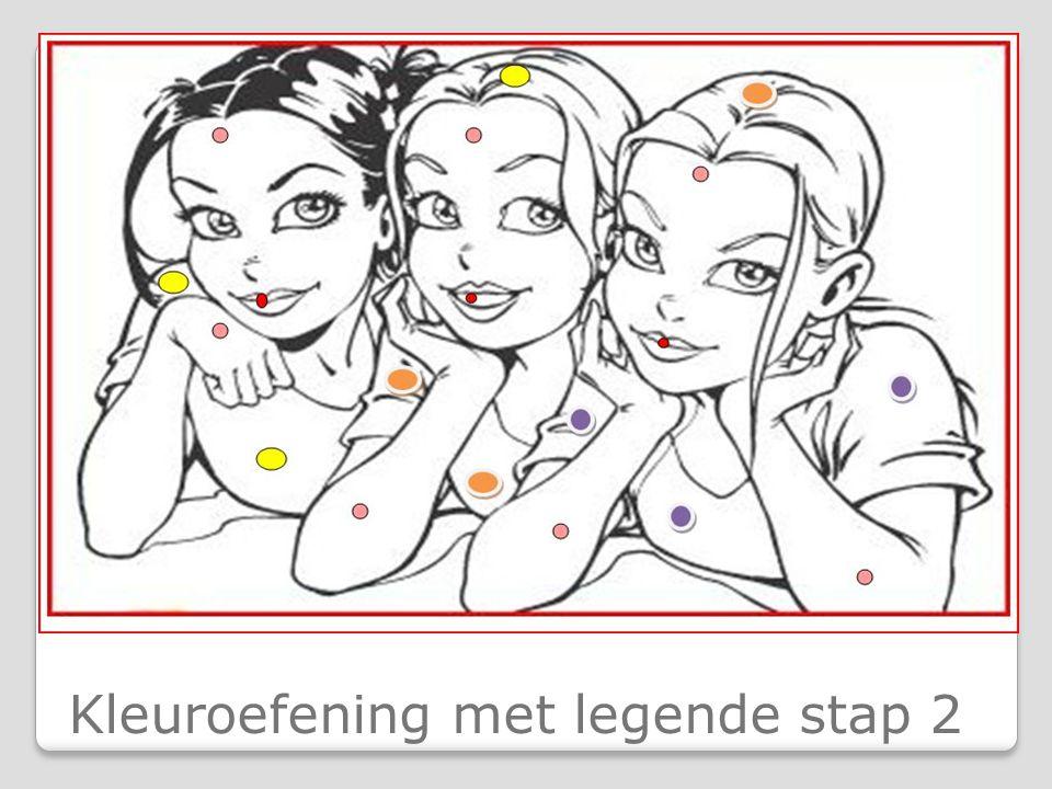 Kleuroefening met legende stap 2