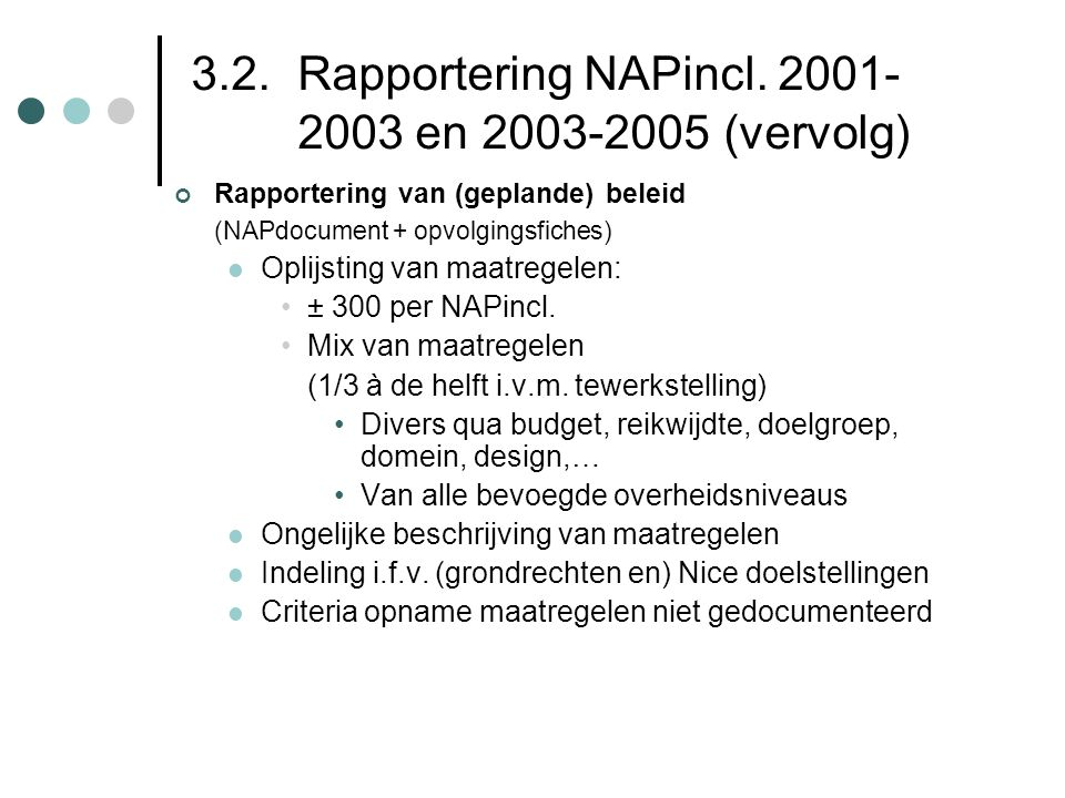 3.2.Rapportering NAPincl.