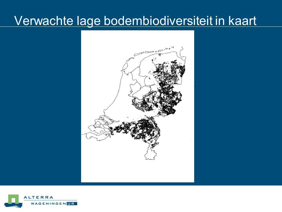 Verwachte lage bodembiodiversiteit in kaart
