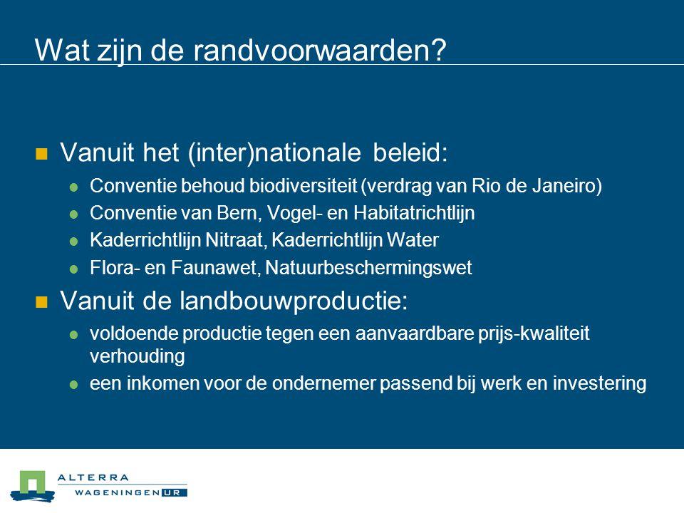 Vertaling van deze overlevingsstrategieën naar een kaartbeeld van Nederland  1.