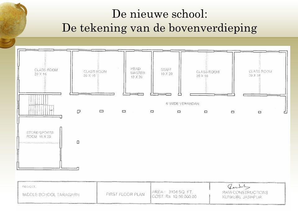 De nieuwe school: De tekening van de bovenverdieping