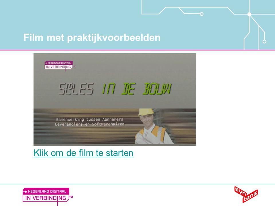 Film met praktijkvoorbeelden Klik om de film te starten
